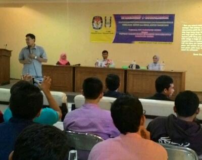 KPU Sosialisasi Pilbup Ke Mahasiswa Muhammadiyah