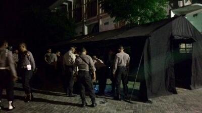 Amankan Panwaskab Polisi Dirikan Tenda